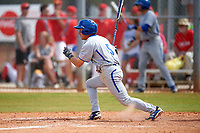 Seton Hall Pirates shortstop Chris Chiaradio (5) at bat during a game against the Indiana Hoosiers on March 5, 2016 at North Charlotte Regional Park in Port Charlotte, Florida.  Seton Hall defeated Indiana 6-4.  (Mike Janes/Four Seam Images)
