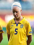 Caroline Seger, Sweden-Russia, Women's EURO 2009 in Finland, 08252009, Turku, Veritas Stadium.
