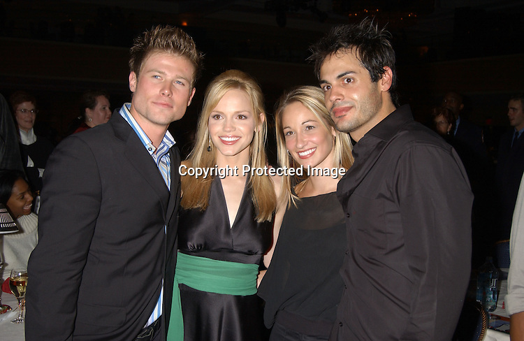 Jacob Young , Alexia Havins,Robin and Stephen Martines                             ..at the Ninth Annual Daytime Television Salutes St. Judes Children's Research Hospital benefit in New York City on ..October 10, 2003 at the Marriott Marquis Hotel.