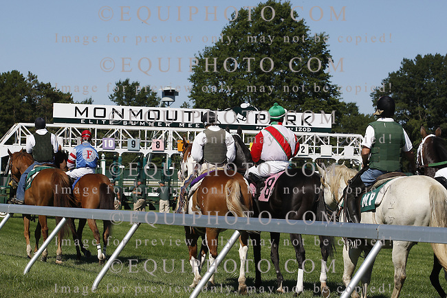 Racing Action at Monmouth Park in Oceanport, N.J.  Photo by Bill Denver/EQUI-PHOTO