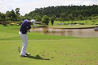 Rikard Karlberg (SWE) tees off on the par3 17th tee during Sundays Final Round 3 of the 54 hole Iskandar Johor Open 2011 at the Horizon Hills Golf Resort Johor, Malaysia, 19th November 2011 (Photo Eoin Clarke/www.golffile.ie)