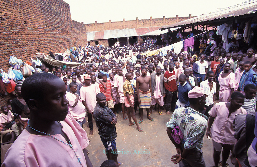 Some of the accused of the genocide in 1994 , inside Kigali prison.  Rwanda..