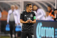EAST RUTHERFORD, NJ - SEPTEMBER 7: Andres Guardado #18 of Mexico during the game during a game between Mexico and USMNT at MetLife Stadium on September 6, 2019 in East Rutherford, New Jersey.