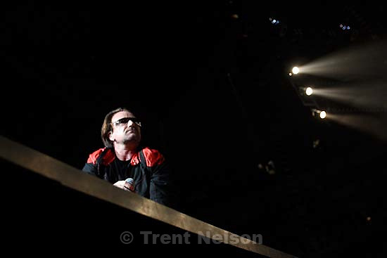 U2 performs at the Delta Center.<br />