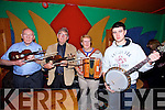 Playing at the Patrick O'Keeffe Taditional Music Festival and the Johnny O'Leary 10th Anniversary Commemorative Concert at the River Island Hotel, Castleisland on Sunday were Donal O'Connor, Ciaran O'Sullivan, Nicky McAuliffe and Ann McAuliffe
