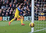 Arsenal's Alexis Sanchez puts his shot wide<br /> <br /> Barclays Premier League - Crystal Palace  vs Arsenal  - Selhurst Park - England - 21st February 2015 - Picture David Klein/Sportimage