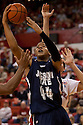 01 December 2010: Jackson State's Raymond Gregory (44) gets the rebound against the Nebraska Cornhuskers in the second half at the Devaney Sports Center in Lincoln, Nebraska. Nebraska defeated Jackson State 76 to 57.