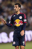 Rafael Marquez (4) defender for the New York Red Bulls giving directions. The LA Galaxy and Red Bulls of New York played to a 1-1 tie at Home Depot Center stadium in Carson, California on  May 7, 2011....