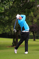 Cian Geraghty (Laytown & Bettystown) on the 2nd during round 1 of The Mullingar Scratch Cup in Mullingar Golf Club on Sunday 3rd August 2014.<br /> Picture:  Thos Caffrey / www.golffile.ie