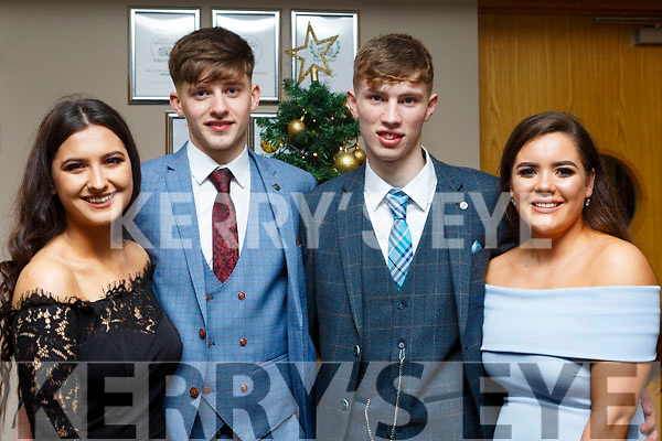 Nela Vugayova (Tralee), Rory O'Connor (Tralee), Padraig de Roiste (Tralee) and Nora Ni Chonaill (Tralee) attending the Gaelcholáiste Chiarrai Debs in the Ballyroe Heights Hotel on Tuesday night last.