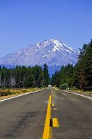 Mount Hood at the end of a road in Oregon, USA