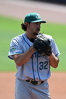Daytona Tortugas pitcher Zack Weiss (32) gets ready to deliver a pitch during a game against the Charlotte Stone Crabs on April 14, 2015 at Charlotte Sports Park in Port Charlotte, Florida.  Charlotte defeated Daytona 2-0.  (Mike Janes/Four Seam Images)