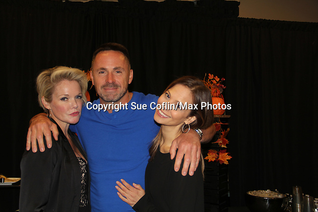 General Hospital's actors - Maura West and William DeVry and Tamara Braun on October 5, 2019 at the Hollywood Casino, Columbus, Ohio with a Q & A and a VIP meet and greet. (Photo by Sue Coflin/Max Photo)