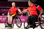 Lima, Peru -  28/August/2019 -  Bernard Lapointe and Richard Peter compete in mens, men's doubles badminton at the Parapan Am Games in Lima, Peru. Photo: Dave Holland/Canadian Paralympic Committee.