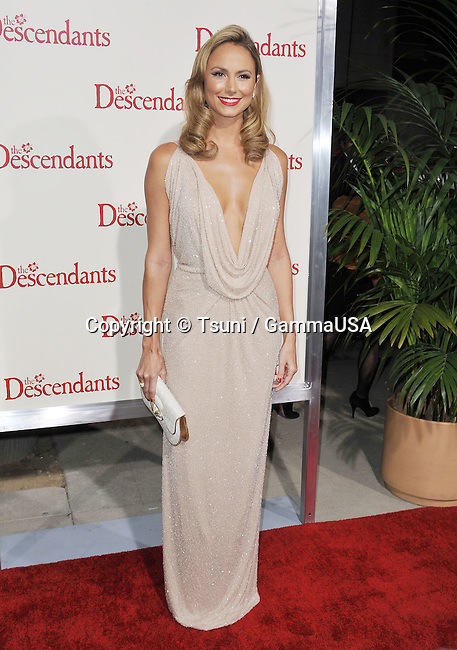 Stacy Keibler  at  The Descendants Premiere at the Academy Of Motion Pictures In Los Angeles.