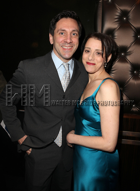 Michael Berresse & Judy Kuhn attending the Vineyard Theatre's 30th Anniversary Gala Celebration Cocktail Reception at the Edison Ballroom in New York City on 3/18/2013