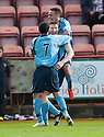 Forfar's Darren Dods is congratulated after he scores their first goal.
