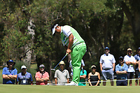 Kiradech Aphibarnrat (THA) in action on the 5th during the Matchplay rounds of the ISPS Handa World Super 6 Perth at Lake Karrinyup Country Club on the Sunday 11th February 2018.<br /> Picture:  Thos Caffrey / www.golffile.ie<br /> <br /> All photo usage must carry mandatory copyright credit (&copy; Golffile | Thos Caffrey)