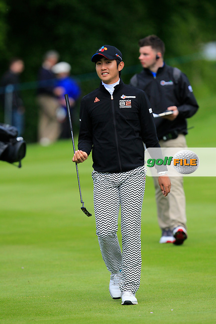 Soomin Lee (KOR) on the 16th fairway during Wednesday's Pro-Am round of the Dubai Duty Free Irish Open presented  by the Rory Foundation at The K Club, Straffan, Co. Kildare<br /> Picture: Golffile | Thos Caffrey<br /> <br /> All photo usage must carry mandatory copyright credit <br /> (&copy; Golffile | Thos Caffrey)