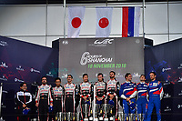 #7 TOYOTA GAZOO RACING (JPN) TOYOTA TS050 HYBRID LMP1 MIKE CONWAY (GBR) JOSE MARIA LOPEZ (ARG) KAMUI KOBAYASHI (JPN) WINNER OVERALL<br /> #8 TOYOTA GAZOO RACING (JPN) TOYOTA TS050 HYBRID LMP1 SEBASTIEN BUEMI (CHE) KAZUKI NAKAJIMA (JPN) FERNANDO ALONSO (ESP) SECOND OVERALL<br /> #11 SMP RACING (RUS) BR ENGINEERING BR1 AER LMP1 MIKHAIL ALESHIN (RUS) VITALY PETROV (RUS) JENSON BUTTON (GBR) THIRD OVERALL