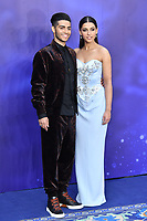 Mena Massoud and Naomi Scott attend live-action remake of the hit Disney animated film Aladdin, at Odeon Luxe Leicester Square<br /> <br /> CAP/JOR<br /> &copy;JOR/Capital Pictures