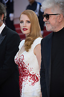 Jessica Chastain &amp; Pedro Almodovar at the Closing Gala for the 70th Festival de Cannes, Cannes, France. 28 May 2017<br /> Picture: Paul Smith/Featureflash/SilverHub 0208 004 5359 sales@silverhubmedia.com