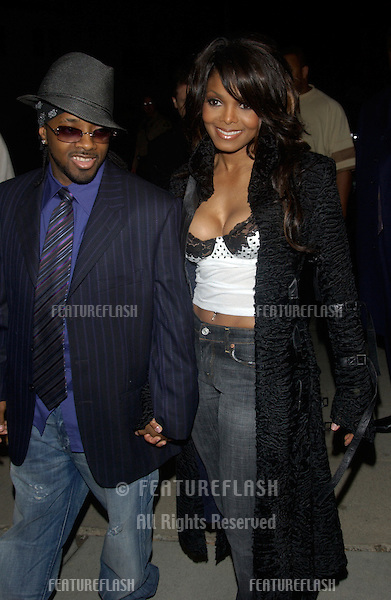 Pop star JANET JACKSON & boyfriend music producer JERMAINE DUPREE at A Night with Janet Damita Jo Jackson - a party to celebrate the career achievements of Janet Jackson - at Mortons Restaurant, West Hollywood, CA..March 20, 2004