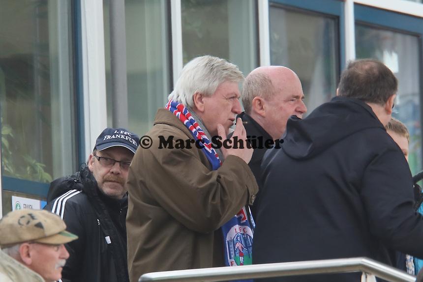 Hessens Ministerpräsident Volker Bouffier mit FFC Manager Siegfried Dietrich- 1. FFC Frankfurt vs. BV Cloppenburg