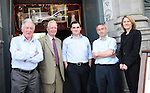 Vincent Hoey, Paddy Carr, Kevin Callan, Niall Kierans and Dorothy Walshe of the Drogheda City Status Committee outside their new offices on West Street...Photo NEWSFILE/Jenny Matthews.(Photo credit should read Jenny Matthews/NEWSFILE)....This Picture has been sent you under the condtions enclosed by:.Newsfile Ltd..The Studio,.Millmount Abbey,.Drogheda,.Co Meath..Ireland..Tel: +353(0)41-9871240.Fax: +353(0)41-9871260.GSM: +353(0)86-2500958.email: pictures@newsfile.ie.www.newsfile.ie.FTP: 193.120.102.198.