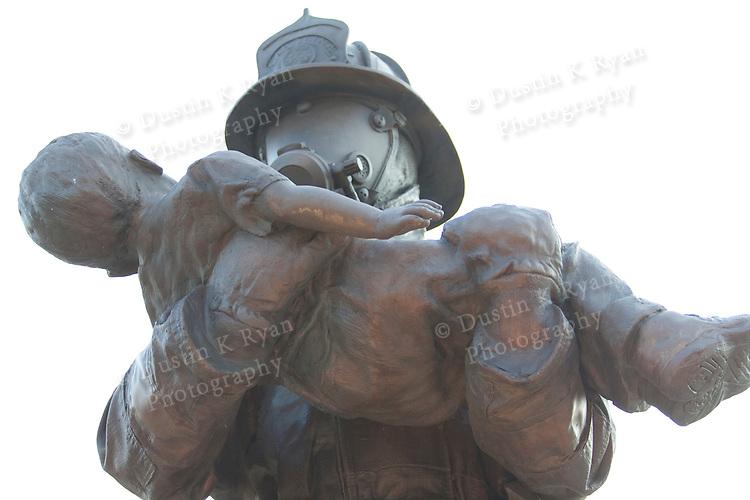 firefighters memorial statue south carolina fire academy bronze