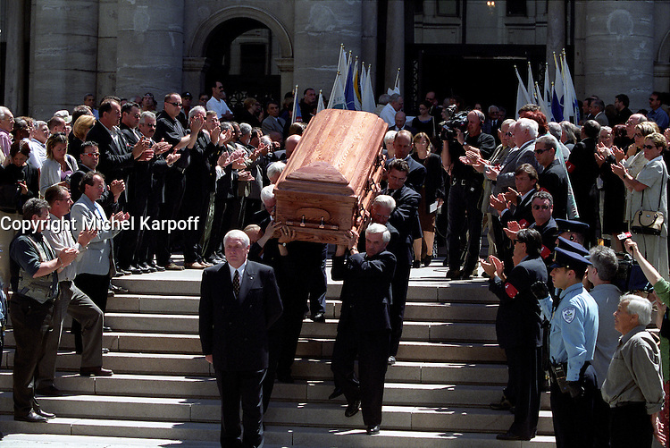 FILE PHOTO : Former FTQ Union leader Louis Laberge funerals, July 24, 2002<br /> <br /> <br /> <br /> <br /> <br /> <br /> <br /> <br /> <br /> <br /> <br /> .