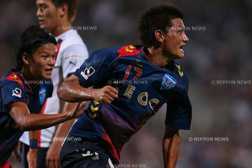 (Yokohama FC), <br /> JULY 26, 2014 - Football /Soccer : <br /> 2014 J.LEAGUE Division 2 <br /> between Yokohama FC 4-0 Jubilo Iwata <br /> at NHK Spring Mitsuzawa Football Stadium, Kanagawa, Japan. <br /> (Photo by AFLO SPORT) [1205]