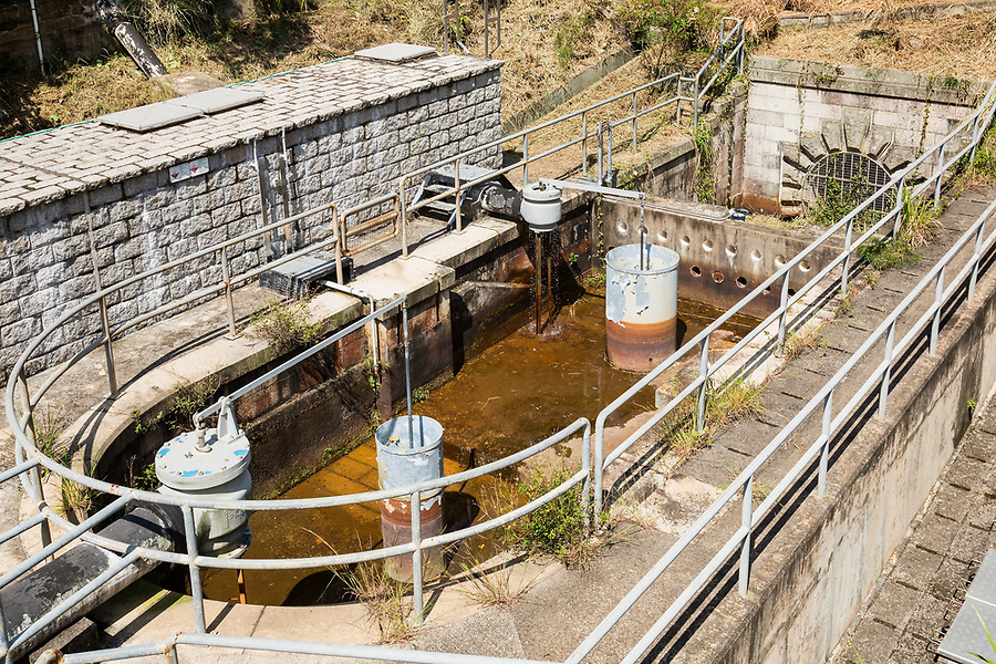 The gauge basin on the Pok Fu Lam Reservoir, Hong Kong Island.