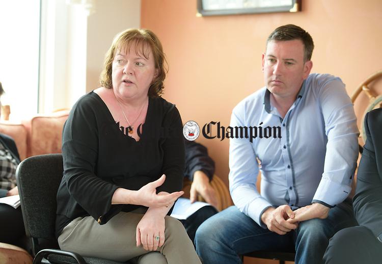 Rita Mc Carthy and Ian Lynch at Kilrush Marina. Photograph by John Kelly.