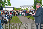 John ODonoghue addresss the crowd who gathered at the unveiling of the Johnny OLeary monument in Kenmare Place, Killarney, last Saturday..