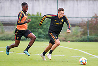 20190903 – TUBIZE , BELGIUM : Belgian Louis Verstrate is pictured during a training session of the U21 youth team of the Belgian national soccer team Red Devils , a training session as a preparation for their first game against Wales in the qualification for the European Championship round in group 9 on the road for Hungary and Slovenia in 2021, Tuesday 3rd of September 2019 at the National training grounds in Tubize , Belgium. PHOTO SPORTPIX.BE | Sevil Oktem