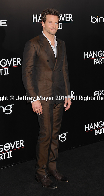 "`HOLLYWOOD, CA - MAY 19: Bradley Cooper arrives at the Los Angeles premiere of ""The Hangover Part II"" at Grauman's Chinese Theatre on May 19, 2011 in Hollywood, California."