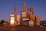 Grain elevators and feed mill, dusk