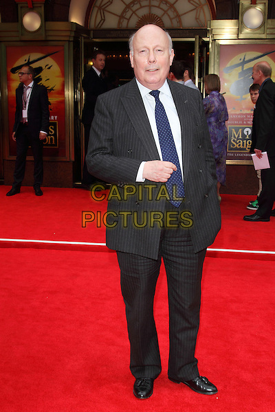 LONDON, ENGLAND - MAY 21: Julian Fellowes attends the 'Miss Saigon' 25th anniversary Press night at the Prince Edward Theatre on May 21, 2014 in London, England.<br /> CAP/ROS<br /> &copy;Steve Ross/Capital Pictures