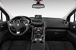 Straight dashboard view of a 2014 Peugeot 3008 5 Door SUV 2WD