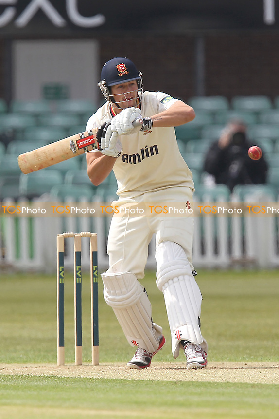 Ben Foakes hits four runs for Essex - Leicestershire CCC vs Essex CCC  - LV County Championship Division Two Cricket at Grace Road, Leicester - 18/05/12 - MANDATORY CREDIT: Gavin Ellis/TGSPHOTO - Self billing applies where appropriate - 0845 094 6026 - contact@tgsphoto.co.uk - NO UNPAID USE.