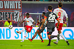 07.10.2018, Red Bull Arena, Leipzig, GER, 1. FBL 2018/2019, RB Leipzig vs. 1. FC N&uuml;rnberg/Nuernberg,<br /> <br /> DFL REGULATIONS PROHIBIT ANY USE OF PHOTOGRAPHS AS IMAGE SEQUENCES AND/OR QUASI-VIDEO.<br /> <br /> im Bild<br /> <br /> Nordi Mukiele (#22, RB Leipzig),<br /> <br /> <br /> Foto &copy; nordphoto / Dostmann