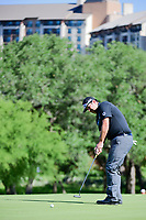 Andres Gonzales (USA) watches his putt on 10 during round 4 of the Valero Texas Open, AT&amp;T Oaks Course, TPC San Antonio, San Antonio, Texas, USA. 4/23/2017.<br /> Picture: Golffile | Ken Murray<br /> <br /> <br /> All photo usage must carry mandatory copyright credit (&copy; Golffile | Ken Murray)