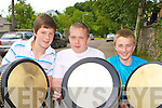 DRUMMERS: Fabian Molloy, Jamie Strappe and Ciaran McGuire, Dingle who competed at the World Bodhra?n Championships in Milltown on Sunday.