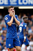 Mason Mount of Chelsea puts hands to his face during the Premier League match between Chelsea and Sheff United at Stamford Bridge, London, England on 31 August 2019. Photo by Carlton Myrie / PRiME Media Images.