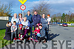Iveragh Park residents who are pleading for Speed Cushions be installed in the estate front ro l-r: Rachel O'Connor, Leon O'Connor, Lorna Richarson, Isabel O'Brien, Carmel O'Connor, back row: Maureen Gamble, Mary O'Sullivan, Timothy Ferris, Adrian O'Connor, Jacqueline and Nathan O'Connor