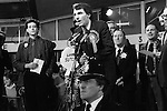 Peter Tatchell election night he lost to Simon Hughes who is making his acceptance speech. Bermondsey south London 1983.Bermondsey by-election UK...
