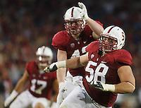 Stanford- November 15, 2014: David Parry during the Stanford vs Utah game Saturday afternoon at Stanford Stadium.<br /> <br /> Utah won 20-17.