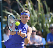 June 17th 2017, Nottingham, England; WTA Aegon Nottingham Open Tennis Tournament day 6;  Backhand from Lucie Safarova of Czech Republic in her semi final match against Donna Vekic of Croatia