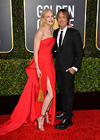 LOS ANGELES, USA. January 06, 2020: Nicole Kidman & Keith Urban arriving at the 2020 Golden Globe Awards at the Beverly Hilton Hotel.<br /> Picture: Paul Smith/Featureflash
